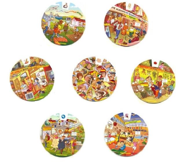 Multilingual Vocabulary Wheels Set